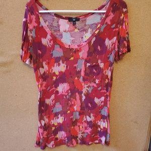 Gap Patterned Scoop Neck Shirt